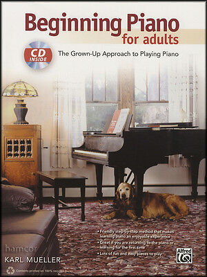 Beginning Piano for Adults Learn How to Play Beginner Method Sheet Music Book/CD
