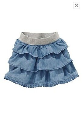 Bnwt Next Denim Ra-Ra Skirt Size 3-4 Years