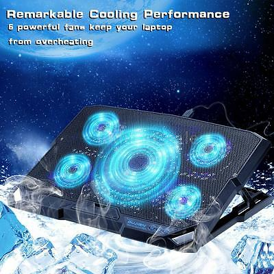 Portable USB 15.6 inch Laptop Cooler Pad Chill Mat Radiator up to 2000 RPM M7K6