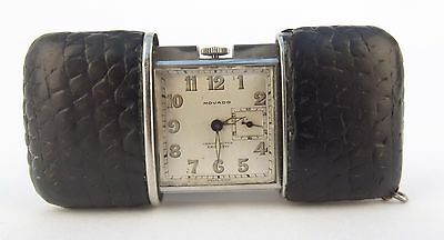 Wonderful Rare Vintage Art Deco Movado Ermeto Chronometre Purse Watch Clock