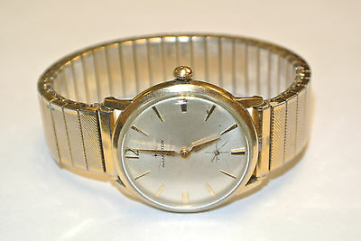 Hamilton 10k Gold Filled Watch, Crosshair Sub Seconds Dial - W05