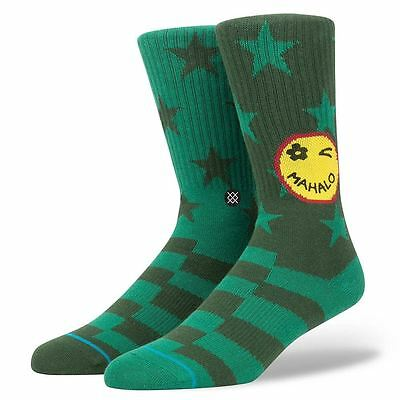 Stance Socks Outlook Green Large UK7 - UK11 Pair Of BNWT New Free Delivery