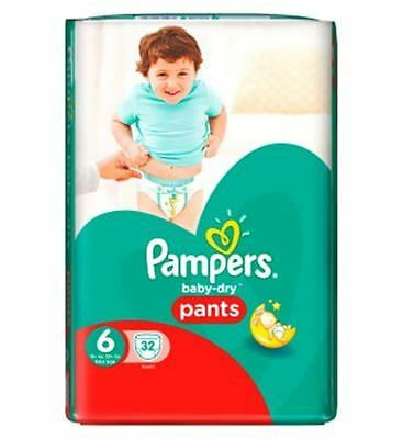 Pampers Baby-Dry Pantalons Taille 6 Essentiels Pack 32 Couches