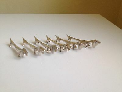 Vintage French Metal Knife Rests X 6 Dachshunds Boxed Christmas Gift?