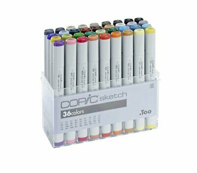 COPIC SKETCH Marker 36er BASIS Set - 36 bunte GRUNDFARBEN +Farbkarte GRATIS