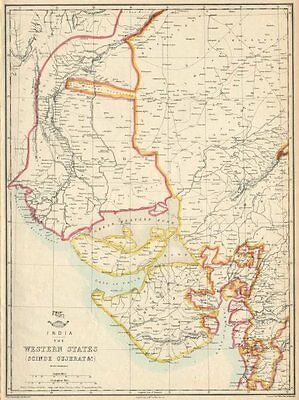 BRITISH INDIA. 'Western States (Scinde Gujerat &c)'. Daman. WELLER 1863 map
