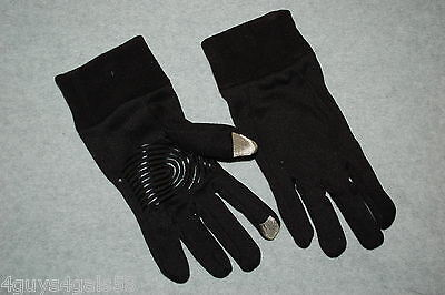 Womens Ladies BLACK TEXTING GLOVES Rubberized Palm Grips ONE SIZE Touchscreen