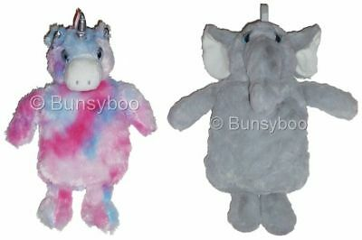 Hot Water Bottle With Soft Fluffy Cover - Bunny Rabbit / Owl / Unicorn - Primark