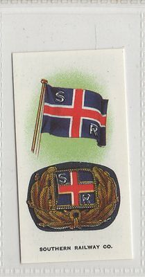 #24 Southern Railway Co - Ships Flags & Cap Badges Reproduction Card