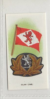 #33 Clan Line - Ships Flags & Cap Badges Reproduction Card