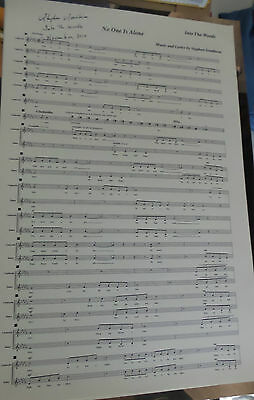 Into The Woods No One Is Alone  Movie Sheet Music Score  Stephen Sondheim