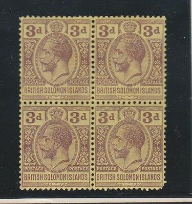 SOLOMON ISLANDS 21 block 4, Geo V 1913-24  mint