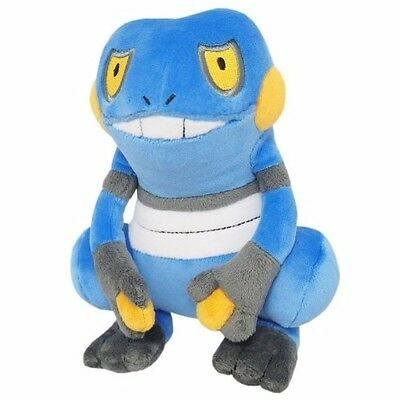 Brand New Sanei Pokemon Go All Star Collection PP45 Croagunk Stuffed Plush Doll