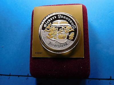 Disney Mickey Mouse Minnie Toontown 1993 Disneyland 999 Silver Gold Coin 1000
