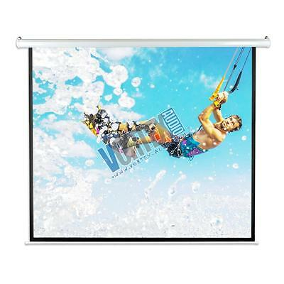 "New PYLE-HOME PRJELMT86 84"" 4:3 MATTE WHITE ELECTRIC Motorized Projector Screen"