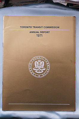 Toronto Transit Commission Annual Report 1971