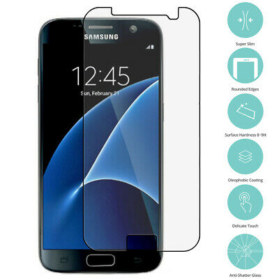 2X Premium Real Tempered Glass Screen Protector Film for Samsung Galaxy S7