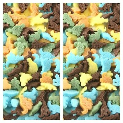 Edible Mini Coloured Dinosaurs Sugar Sprinkles Cake Cupcake Decorations 25G