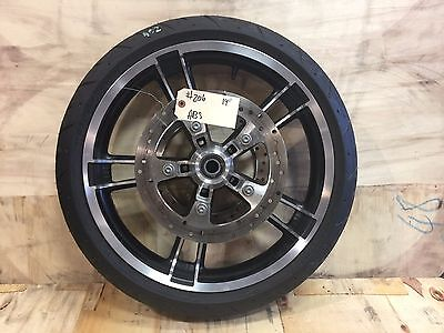 """Harley-Davidson 2009-2017 19"""" Enforcer Front Wheel, Tire, Rotors with ABS   #206"""