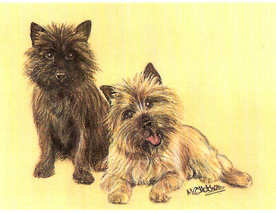 Cairn Terrier Notecard Note Card by MC Fletcher Pack of 2 LAST Pack