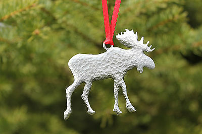 Hand Made Lead Free Pewter Moose Ornament decoration holiday gift New