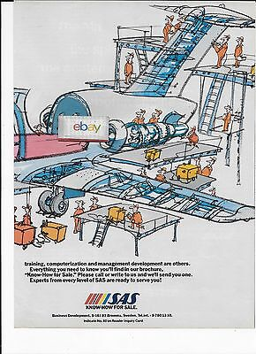 Sas Scandinavian Douglas Dc-9 2 Pg 1983 I Found The Faulty Gasket Maintenance Ad