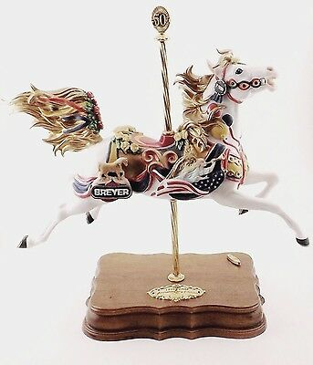 Beautiful Porcelain Breyer 50Th Anniversary Musical Carousel Horse Pristine Cond