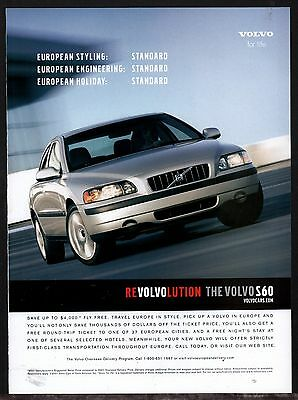 2001 VOLVO S60 Silver Car AD Advertising