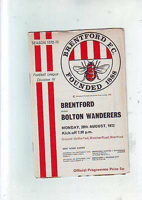 Brentford v Bolton Wanderers 28/8/72 + Football League Review