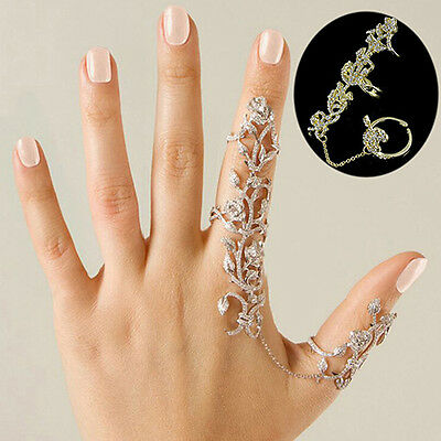 HOT Womens Fashion Jewelry Rings Multiple Finger Stack Knuckle Band Crystal Set