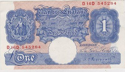 B249 Peppiatt Blue D16D £1 Banknote In Extremely Fine Condition
