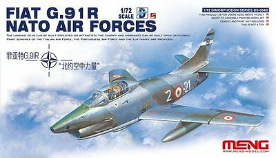 MENG-MODEL DS-004s - 1/72 FIAT G.91R NATO AIR FORCES - NEU