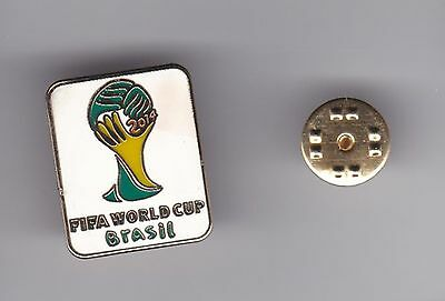 """Brasil  """" World Cup 2014 """"  - lapel badge butterfly fitting"""