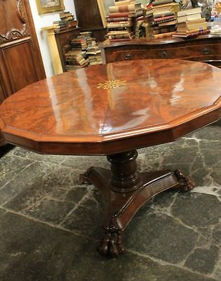 Wonderful Ancient Table English Mahogany Inlaid London Period 1860 About