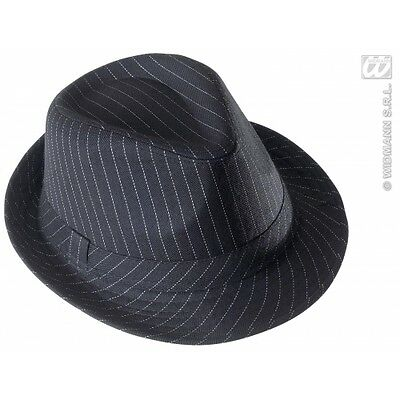 Gangster Hat Striped for 20s 30s Mob Fancy Dress Accessory