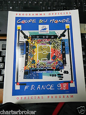 1998 World Cup Official Programme - Coupe du Monde France 98 in Excellent cond