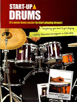 Start Up Drums Learn How to Play Tutor Method Teach Yourself Drumming Book