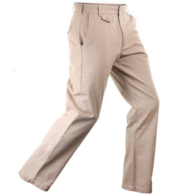 32% OFF RRP Stuburt Essentials 100% Cotton Chino Pant Golf Trousers Flat Front