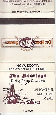 The Moorings Old Home Summer '82 Bedford Place Nova Scotia Canada Matchcover