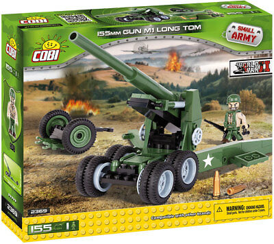 COBI 2369 - SMALL ARMY - WWII US 155mm GUN M1 LONG TOM - NEU