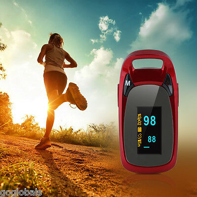 Finger Fingertip Pulse Oximeter Blood Oxygen Meter SPO2 OLED Heart Rate Monitor