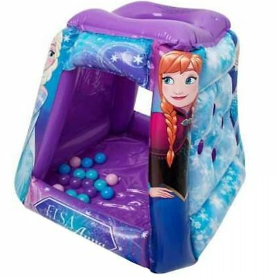 Disney Frozen Tent Inflatable Paddling Ball Pool Play Pit Game Toy Playhouse Set