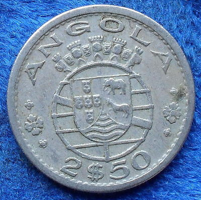 ANGOLA - 2.50 escudos 1967 KM# 77 Portuguese Colony until 1975 - Edelweiss Coins