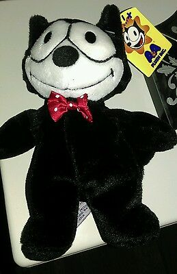 """FELIX THE CAT A & A With Tag 8"""" PLUSH STUFFED TOY 1996"""