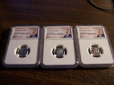 3-Ngc Pf 69 Ultra Cameo Silver Dimes--1992-S-1996-S-1999-S--Hard To Find Years