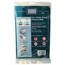 PACK OF 10 VACUUM STORAGE BAGS COMPRESSED CLOTHES BEDDING SPACE SAVING 50 x 70CM