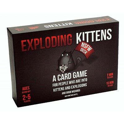 Exploding Kittens NSFW Edition (Explicit Content) - Brand new!