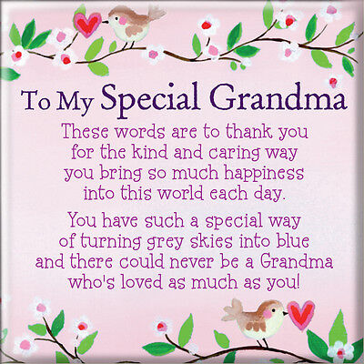 Heartwarmers To My Special Grandma Square Fridge Magnet - Gift Idea