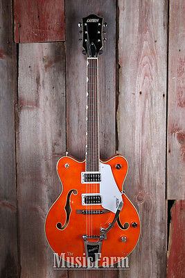 Gretsch G5422T Electromatic Hollow Body Electric Guitar with Bigsby Orange Stain