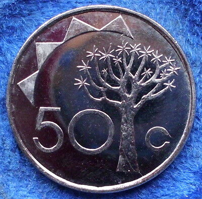 NAMIBIA - 50 cents 1993 KM# 3 BU Independent Republic (1990) - Edelweiss Coins